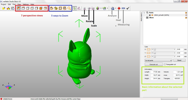 Interface Netfabb