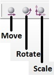 Move, rotate and scale