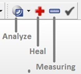 Analyze, repair, measuring