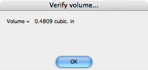 Verify volume