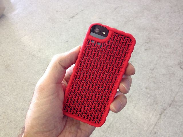 "3D Printed iPhone 5 - ""Sweater"" Case"