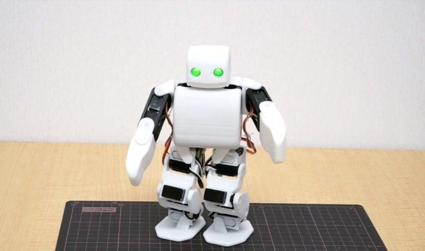 The PLEN2 robot, built with 3d printed parts
