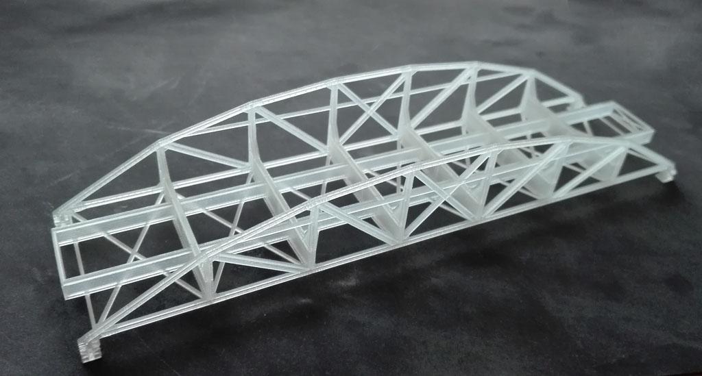 Steel narrow gauge railway bridge, TT scale (1:120