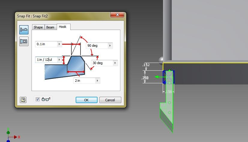Snap Fit Cantilever question | Shapeways 3D Printing Forums