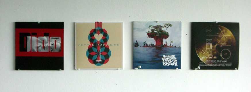 FourLP_small.jpg - Vinyl Record Wall Mount With Little Birds Shapeways 3D  Printing - Vinyl - Vinyl Wall Mount Cymun Designs